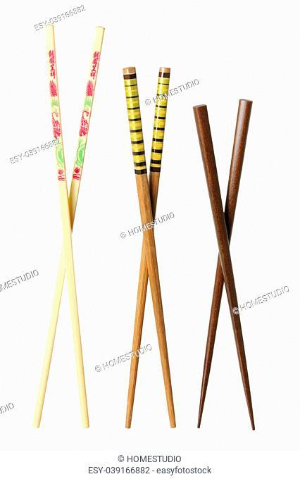 Chopsticks on White Background