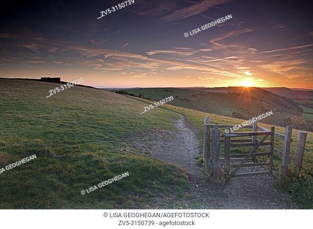 Sunset at Devil's Dyke Brighton, Sussex. Uk