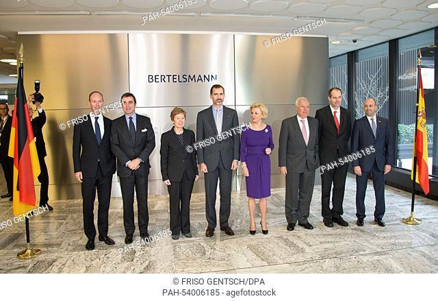 Thomas Rabe, CEOof Bertelsmann SE & Co. KGaA, Juan Pablo Garcia-Berdoy y Cerezo, Spanish Ambassador to German,Angelica Schwall-Dueren