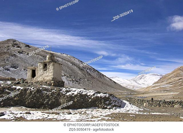 Village entrance near Puga hot water springs, Ladakh