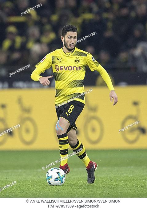 Nuri SAHIN (DO) Aktion, Fussball 1. Bundesliga, 15. Spieltag, Borussia Dortmund (DO) - SV Werder Bremen (HB) 1:2, am 09.12.2017 in Dortmund/ Germany