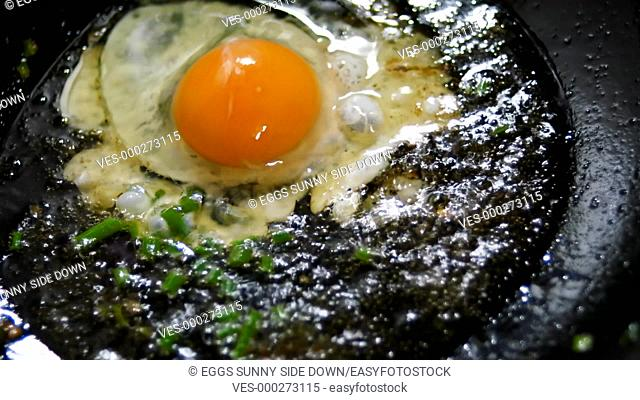 frying eggs sunny side down over easy