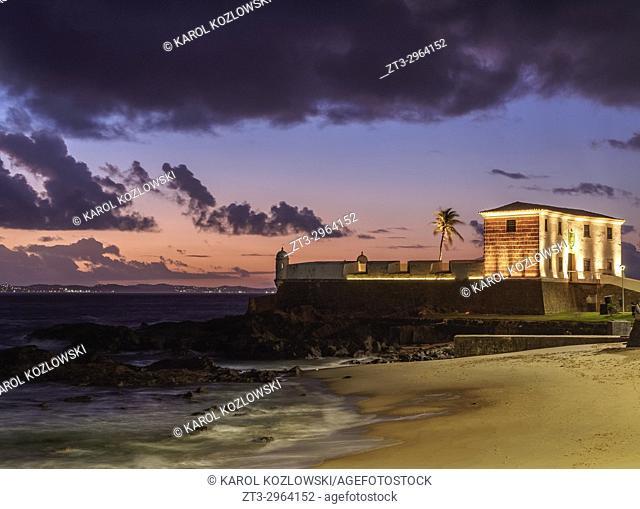 Santa Maria Fort at sunset, Salvador, State of Bahia, Brazil