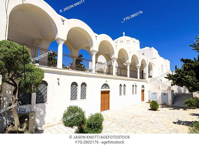 The Orthodox Metropolitan Cathedral of Santorini, Fira, Santorini Island, Cyclades, Greece