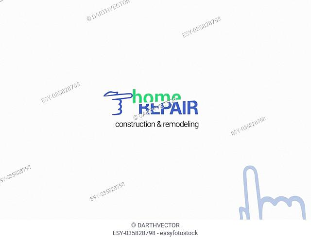 Repair service vector icon, logotype, emblem, badge and decoration detail for business card or presentation template