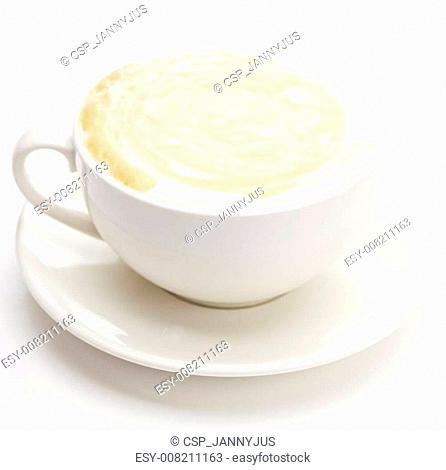 cappuccino in a cup isolated on white