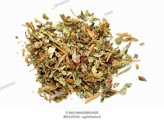 Dandelion (Taraxacum officinale), dried herb, medicinal plant, tea