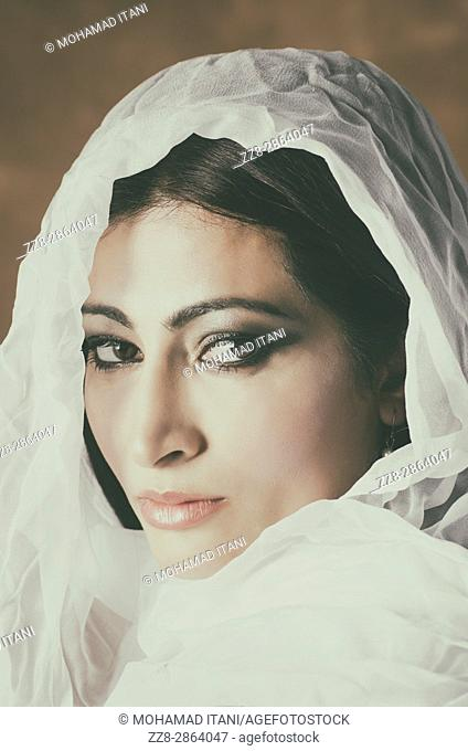 Veiled middle eastern woman