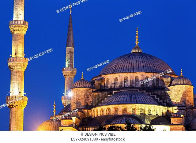 Sunset over The Blue Mosque, Istanbul Turkey