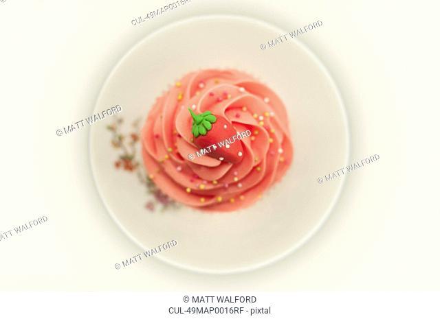 Close up of decorative cupcake