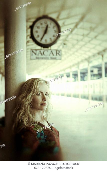 30 year old woman at Sirkeci railway station, Istanbul