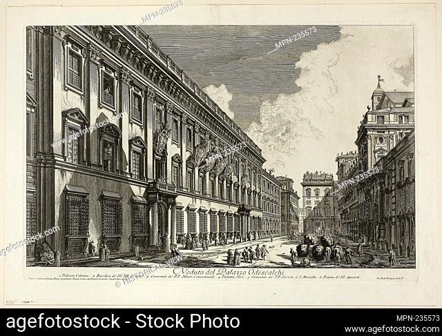 View of the Palazzo Odescalchi, from Views of Rome - 1750/59 - Giovanni Battista Piranesi Italian, 1720-1778 - Artist: Giovanni Battista Piranesi, Origin: Italy