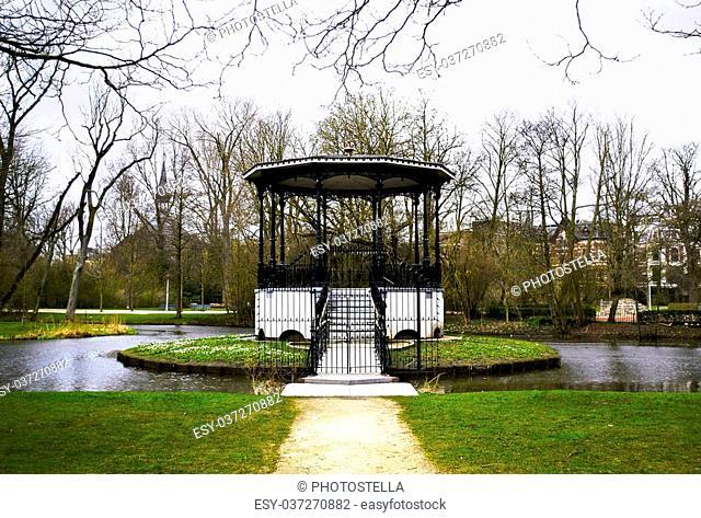 Vondelpark lake in Amsterdam Holland