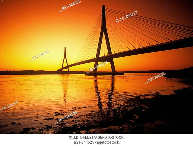 Puente Real bridge over Guadiana river. Ayamonte. Huelva province, Spain