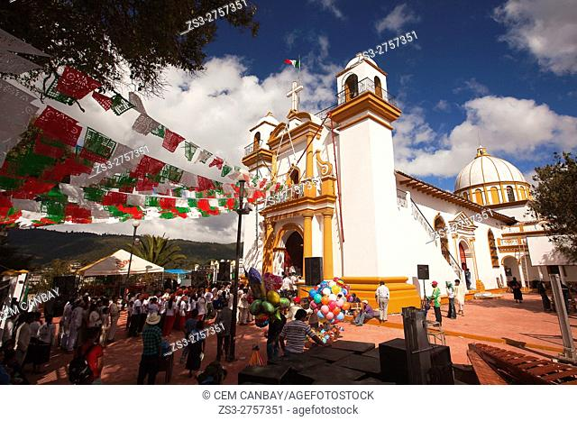 Visitors at the Cerro de Guadalupe church during the celebrations of the Feast of Our Lady of Guadalupe-on 12 December, Dia de la Virgen de Guadalupe