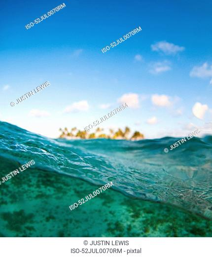 Close up of waves in tropical water