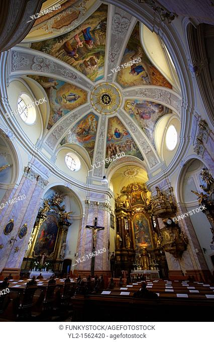 Baroque interior of The Carmelite church -  Gyor  Gyor Hungary