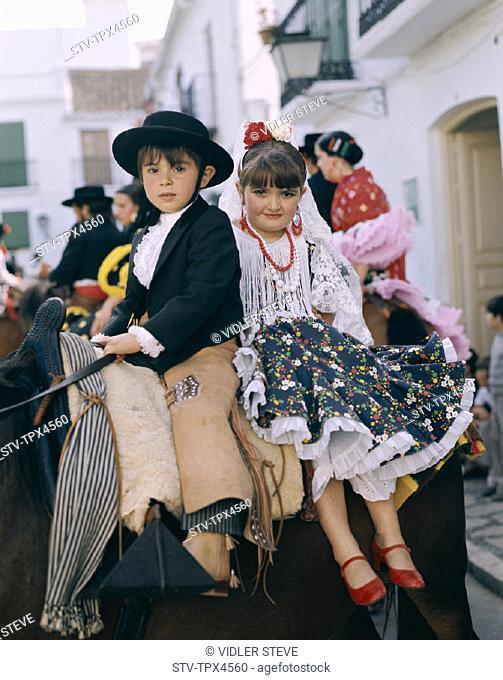 Andalucian, Andalusia, Annual, Boy, Children, Costume, Fair, Fiesta, Girl, Holiday, Horse, Jerez de la frontera, Landmark, May