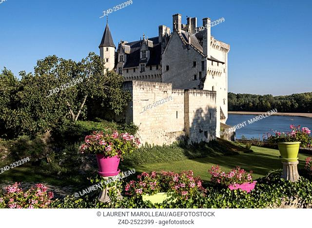 Castle of Montsoreau, was built on the Loire in 1455, at the confluence of the Loire and Vienne rivers. Montsoreau (Labeled The Most Beautiful Villages of...