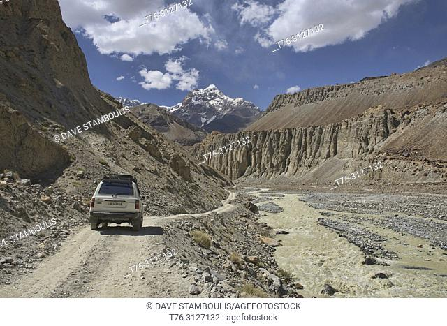 The wild road through the Bartang Valley, Pamirs, Tajikistan