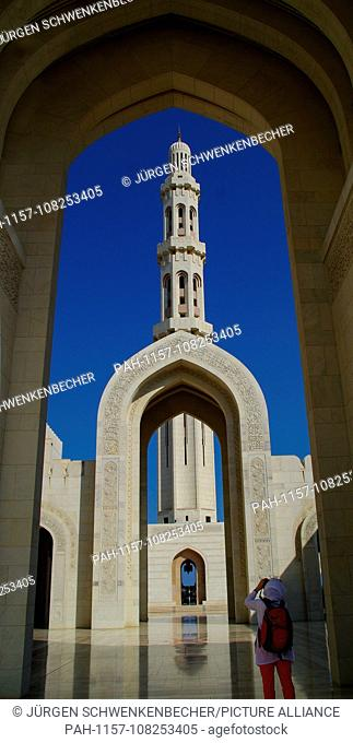 The Sultan Qaboos Grand Mosque in Muscat is the largest mosque in Oman. It was opened on 4 May 2001 and is one of the largest places of worship worldwide