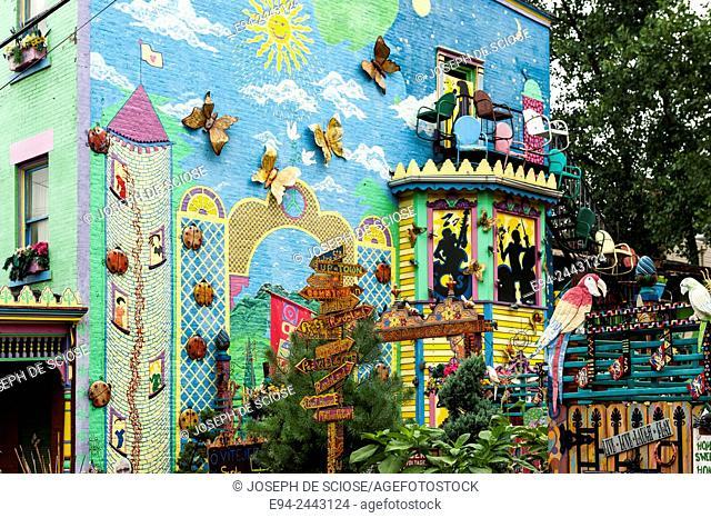 Found art garden, Randyland community garden Pittsburgh