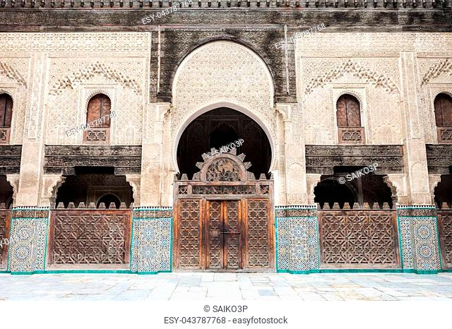 The Medersa Bou Inania is a madrasa in Fes, Morocco. Medersa Bou Inania is acknowledged as an excellent example of Marinid architecture