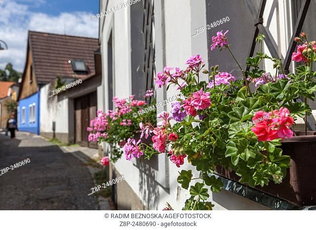 Streets of Old Town, Tabor - the city of Hussites, South Bohemia, Czech Republic