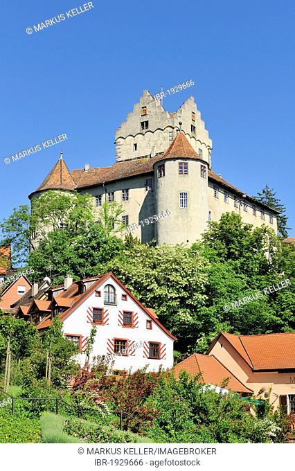 The historical Burg Meersburg castle, Bodenseekreis county, Baden-Wuerttemberg, Germany, Europe