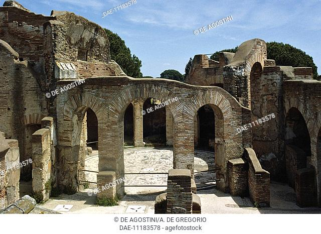 Baths of the Seven Sages, Ostia Antica, Lazio, Italy. Roman civilisation, 2nd century