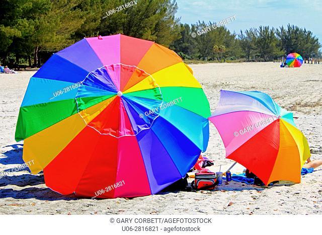 colorful umbrellas in Florida