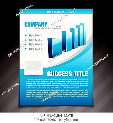 vector success flyer brochure poster template design