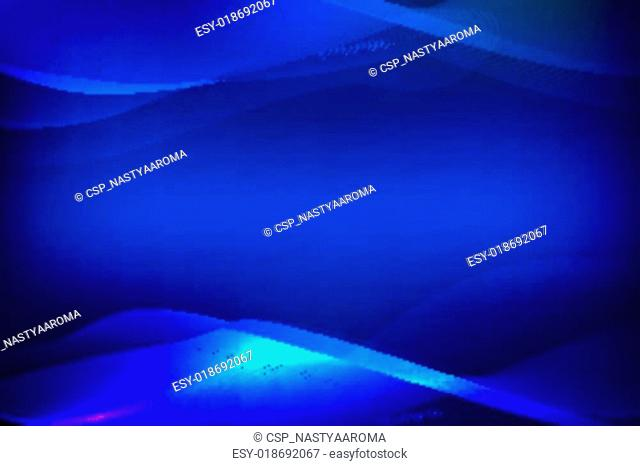 Abstract blue background of glowing