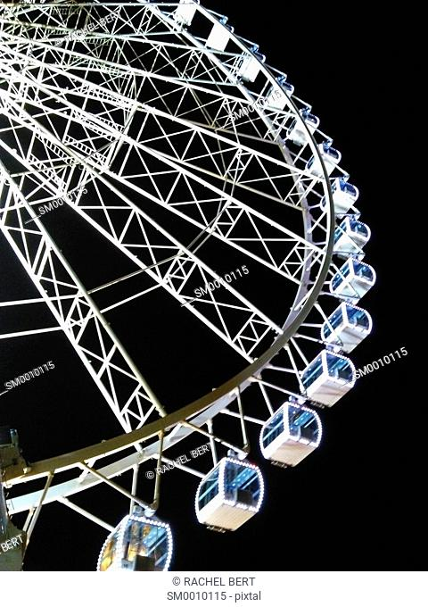Ferris wheel, Christmas fair, Zaragoza, Spain