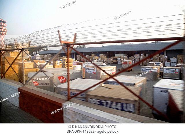 Cargo area at Chattrapati Shivaji Terminal ; Santacruz ; Bombay now Mumbai ; Maharashtra ; India