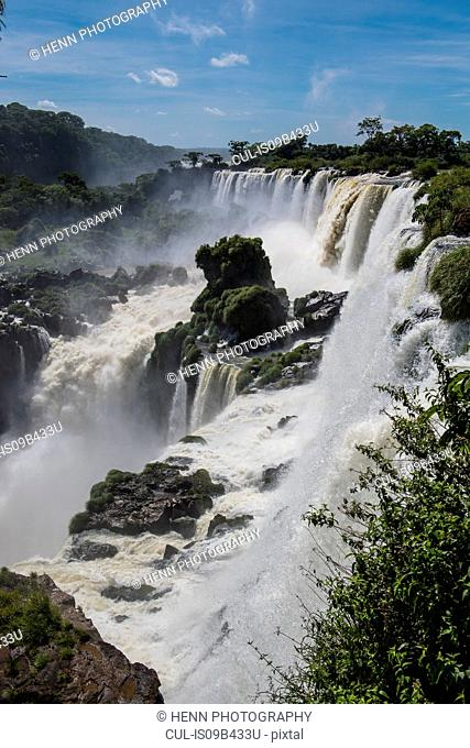 The Iguazu waterfall, Misiones, Argentina