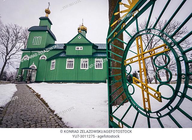 Orthodox Church of Saint Michael the Archangel in Trzescianka village, Hajnowka County in Podlaskie Voivodeship of northeastern Poland
