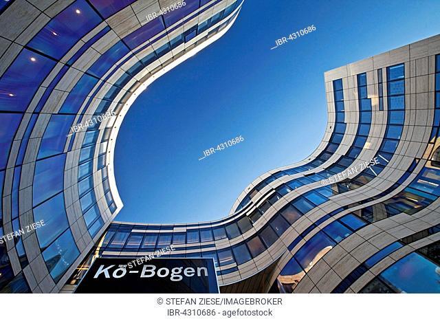 Office and retail complex called Kö-Bogen, designed by architect Daniel Liebeskind, Düsseldorf, North Rhine-Westphalia, Germany