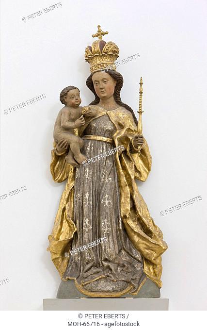 Stift Haug, erbaut von 1670 bis 1691, Architekt war Antonio Petrini, Madonna mit Christuskind