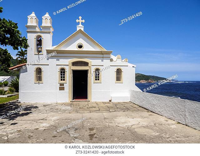 Santa Barbara Chapel, Santa Cruz da Barra Fort, Niteroi, State of Rio de Janeiro, Brazil