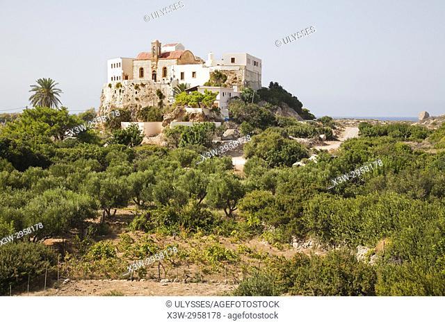 Chrisoskalitisas Monastery, Crete island, Greece, Europe