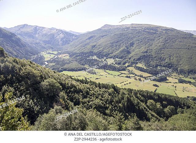 Valle de Roncal landscape in Navarre Spain