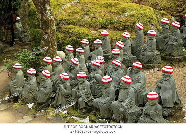 Japan, Miyajima, Daisho-in Temple, Rakan statues, Shaka Nyorai's disciples,