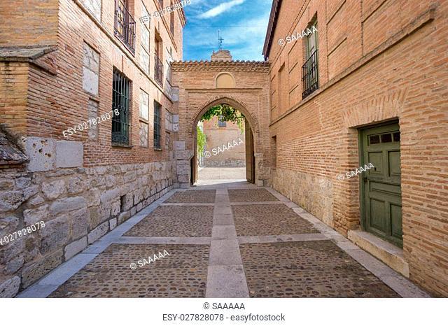 Main entrance of Santa Clara Convent in Tordesillas