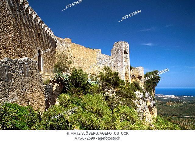 The Castell (castle) de Santueri. Mallorca. Balearic Islands. Spain