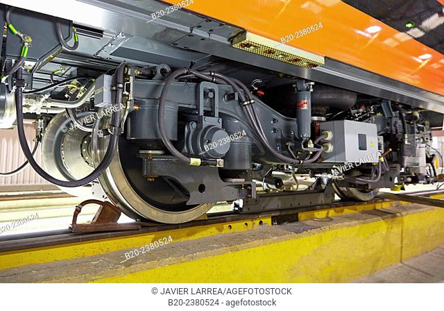 Railroad wheels. Assembly workshop trams. Manufacture of trains