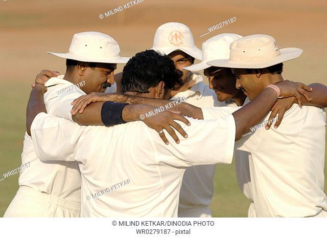 Cricketers boosting their sprit MR 705-H, 705-I,705-J,705-K,705-L