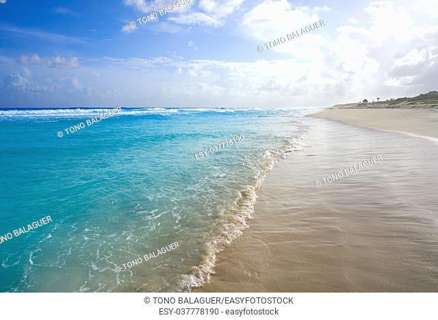 Cozumel island San Martin beach in Riviera Maya of Mayan Mexico