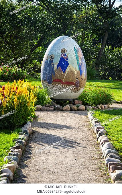 Giant easter egg in the Unesco world heritage sight Suzdal, Golden ring, Russia