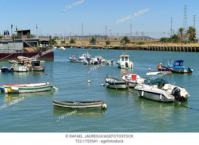 El Puerto de Santa María Cádiz  Guadalete River as it passes through the town of El Puerto de Santa Maria